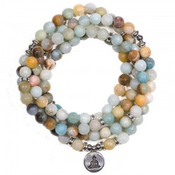 Mala in Amazzonite con Buddha
